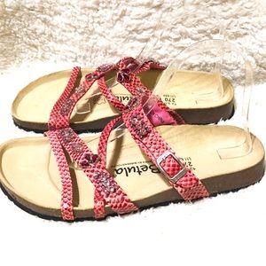 Betula by Birkenstock Pink Jeweled Sandals